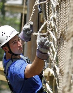"(AP Photo) ""American Ninja Warrior"" veteran Joe Moravsky goes through the challenges at Myrtle Beach's Radical Ropes. Moravsky was one of many ""Ninja Warrior"" hopefuls that competed in Pittsburgh's round of the popular television show."