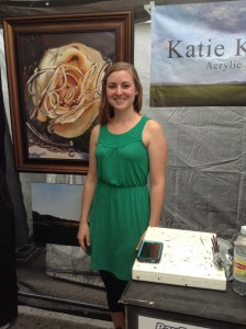 Pittsburgh local Katie Koenig presented her paintings for the first time at the 19th annual festival
