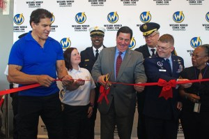 "Aaron Warnick | the Duquesne Duke Mayor Bill Peduto cuts the ribbon to the first Pittsburgh Wizard World comic convention, flanked on his right by ""The Incredible Hulk"" star Lou Ferrigno"