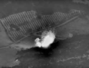 This photo made from the footage taken from Russian Defense Ministry official website shows an attack made from a fighter jet in Syria. The United States and Russia are currently at odds over the situation brewing in Syria.