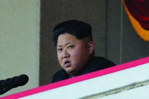 Kim Jong Un delivers remarks at a military parade in Pyongyang, North Korea. The country's call for peace will most likely not result in any major changes to current political relations with the United States and South Korea.