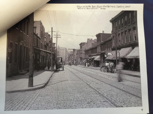 By Sydnie Pennington | The Duquesne Duke This 1908 photograph of the Hill District shows the view of Fifth Avenue from Van Braam Street. The photo was part of a museum created by Duquesne students.