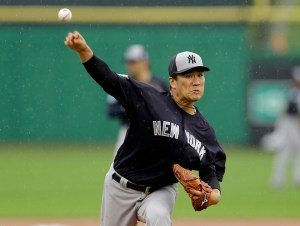 AP Photo | New York Yankees starting pitcher Masahiro Tanaka warms up during the first inning of a spring training baseball game against the Philadelphia Phillies Tuesday, March 29, 2016, in Clearwater, Fla.