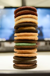 Photo by Joseph Guzy Photo Editor. A stack of all seven flavors.