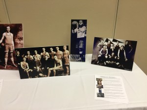 By Joseph Sykes | Sports Editor - A table in the Power Center displays photographs of Cumberland Posey during his time as an athlete in Pittsburgh. Later this year, Posey will be the first man to be enshrined in two sports halls of fame.