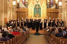 Courtesy of Caron Daley Duquesne's Voices of Spirit choir performs at St. Bernard's Church in Mt. Lebanon Oct. 9.