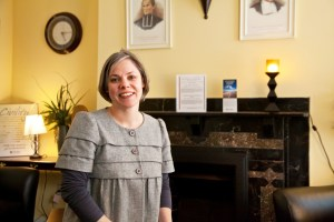 Courtesy of the Office of Marketing and Communications Darlene Weaver, a professor of theology, is the new core curriculum director.