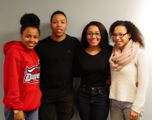 Rachel Strickland | Staff Photographer (From left to right) Alexis, Brandon, Christina and Dominique Scott.