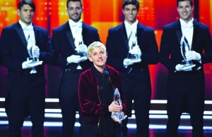 AP Photo Ellen DeGeneres won big at the People's Choice Awards, taking home Favorite Animated Movie Voice, Favorite Comedic Collaboration and more honors.