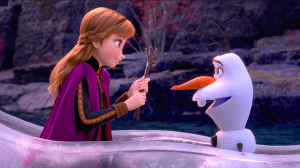Courtesy of The Walt Disney Company Anna and Olaf return, portrayed by Kristen Bell and Josh Gadd respectively.