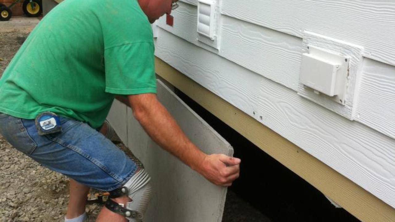 Porch Metal Mobile Home Skirting Options Duraskirt