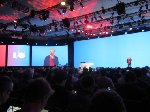 Larry Page en el escenario