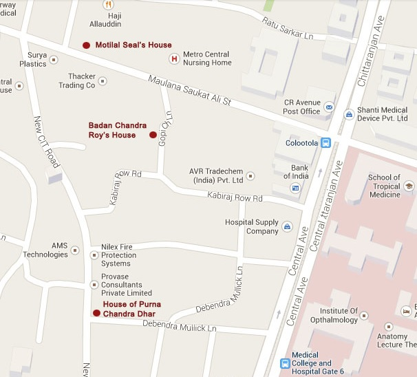 bonedi bari kolkata location map
