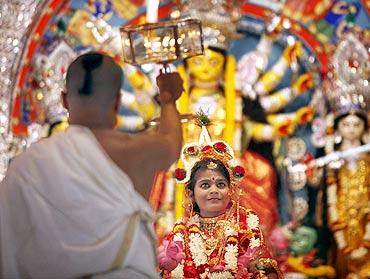 Kumari Puja at Ramkrishna Mission Belur Math
