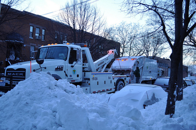 Winter Towing Downtown