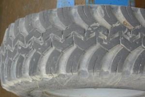 Worn Truck Tire