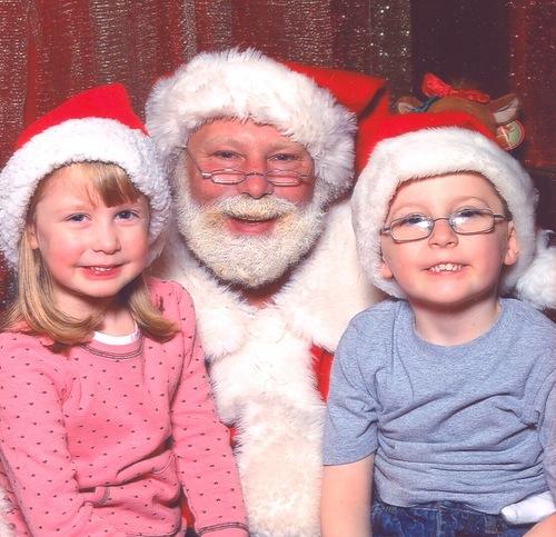 Visiting Santa 2008