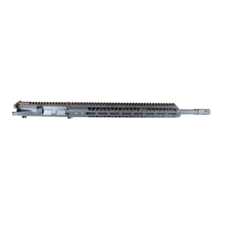 AR-15 Complete Upper Assembly, 18″ 4150 Parkerized Mid Weight Barrel, .224 Valkyrie, Mid Length Gas System, 1-7 Twist w: 15″ MLOK