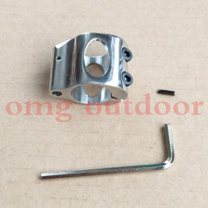 SS Low Profile Micro Block 0.75 Inch steel Gas Block