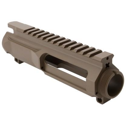 AR-15 Billet Stripped Upper Receiver (Made in USA) Cerakote - FDE