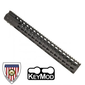 "15"" ULTRA LIGHTWEIGHT THIN KEY MOD FREE FLOATING HANDGUARD WITH MONOLITHIC TOP RAIL"