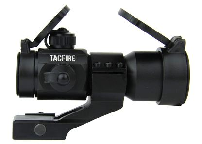 TACFIRE 1 x 30mm Tactical Dot Rifle Scope Sight with Cantilever Weaver Mount, Red:Green