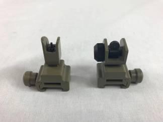 Sight - Front & Rear Flip Up FDE
