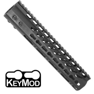 10″ ULTRA LIGHTWEIGHT THIN KEYMOD FREE FLOATING HANDGUARD WITH MONOLITHIC TOP RAIL