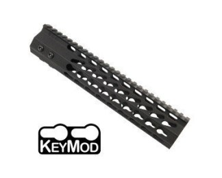 10 ULTRA SLIMLINE OCTAGONAL 5 SIDED KEY MOD FREE FLOATING HANDGUARD WITH MONOLITHIC TOP RAIL