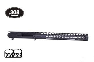 AR .308 STRIPPED BILLET UPPER RECEIVER & 15″ ULTRALIGHT SERIES KEYMOD HANDGUARD COMBO SET