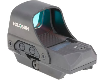Holosun HE510C-GR Elite Reflex Sight 1x Selectable Green Reticle Picatinny-Style Quick-Release Mount Solar-Battery Powered Matte Back