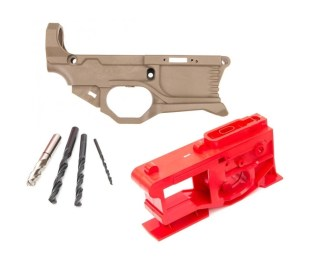 POLYMER80 AR-15 RHINO 80% LOWER RECEIVER KIT - FDE