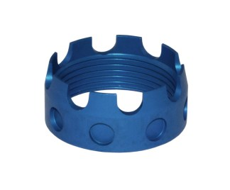AR 7075-T6 Aluminum Castle Nut, BLUE