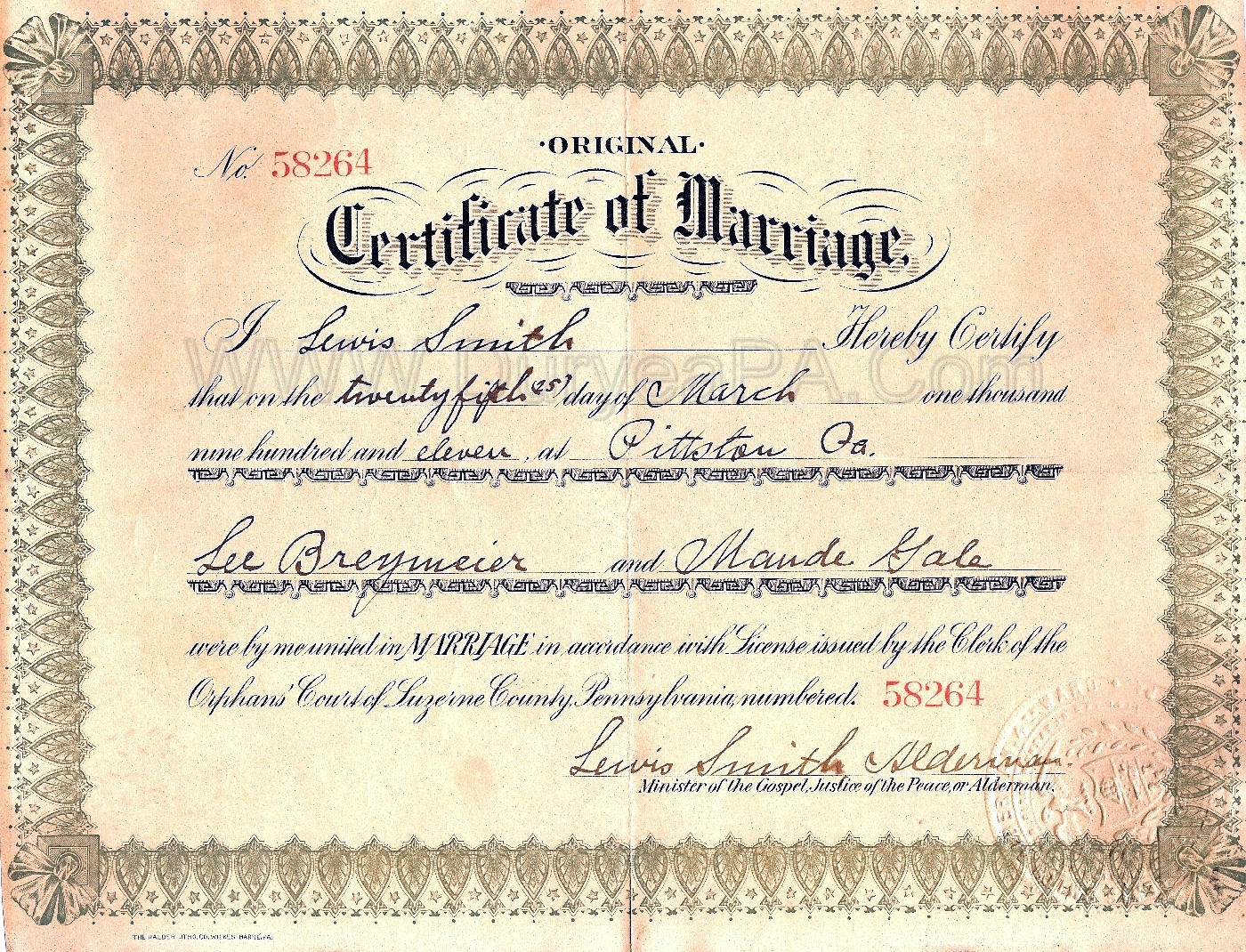 Marriage certificate nj copywriter