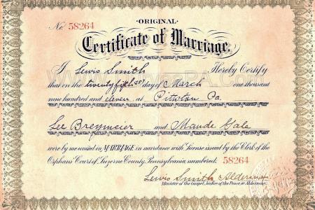 Free Resume 2018 » marriage certificate washington | Free Resume