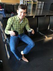 Power kávička na letisku