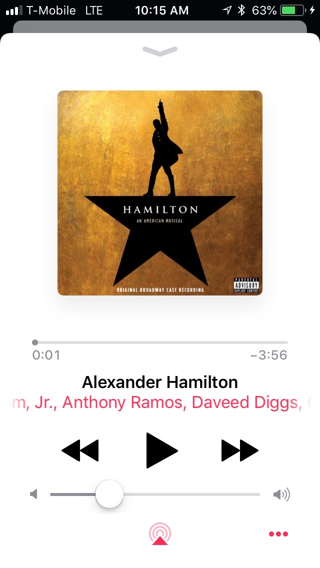 iTunes now playing