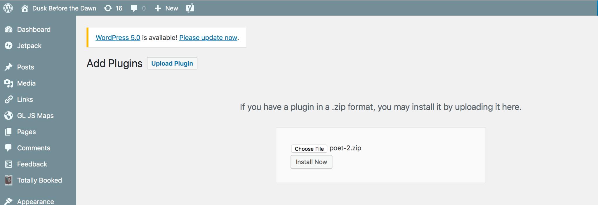 Po.et on Mainnet plug-in install
