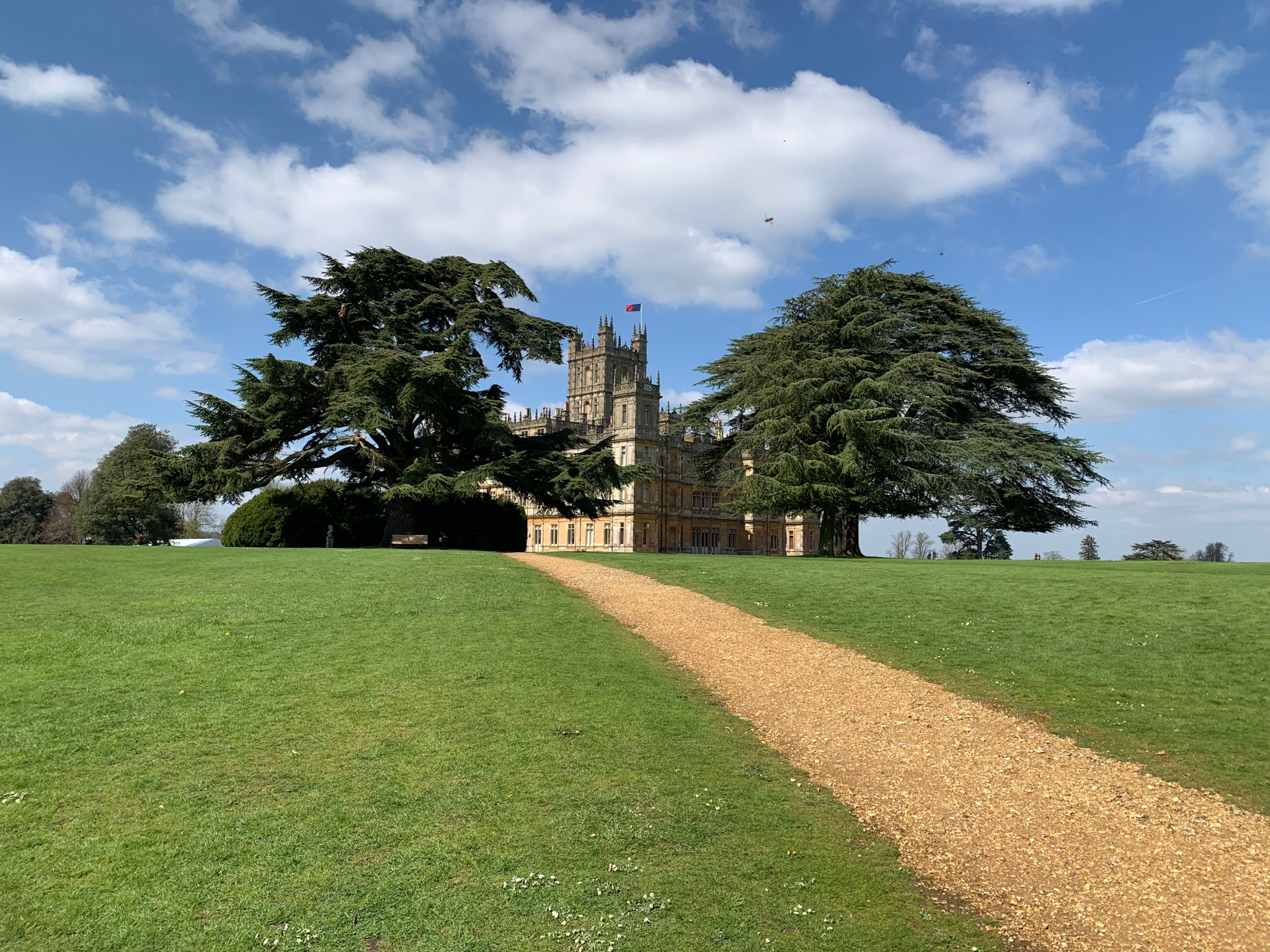 Highclere Castle up the trail