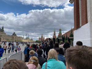 Line at Lenin's Mausoleum