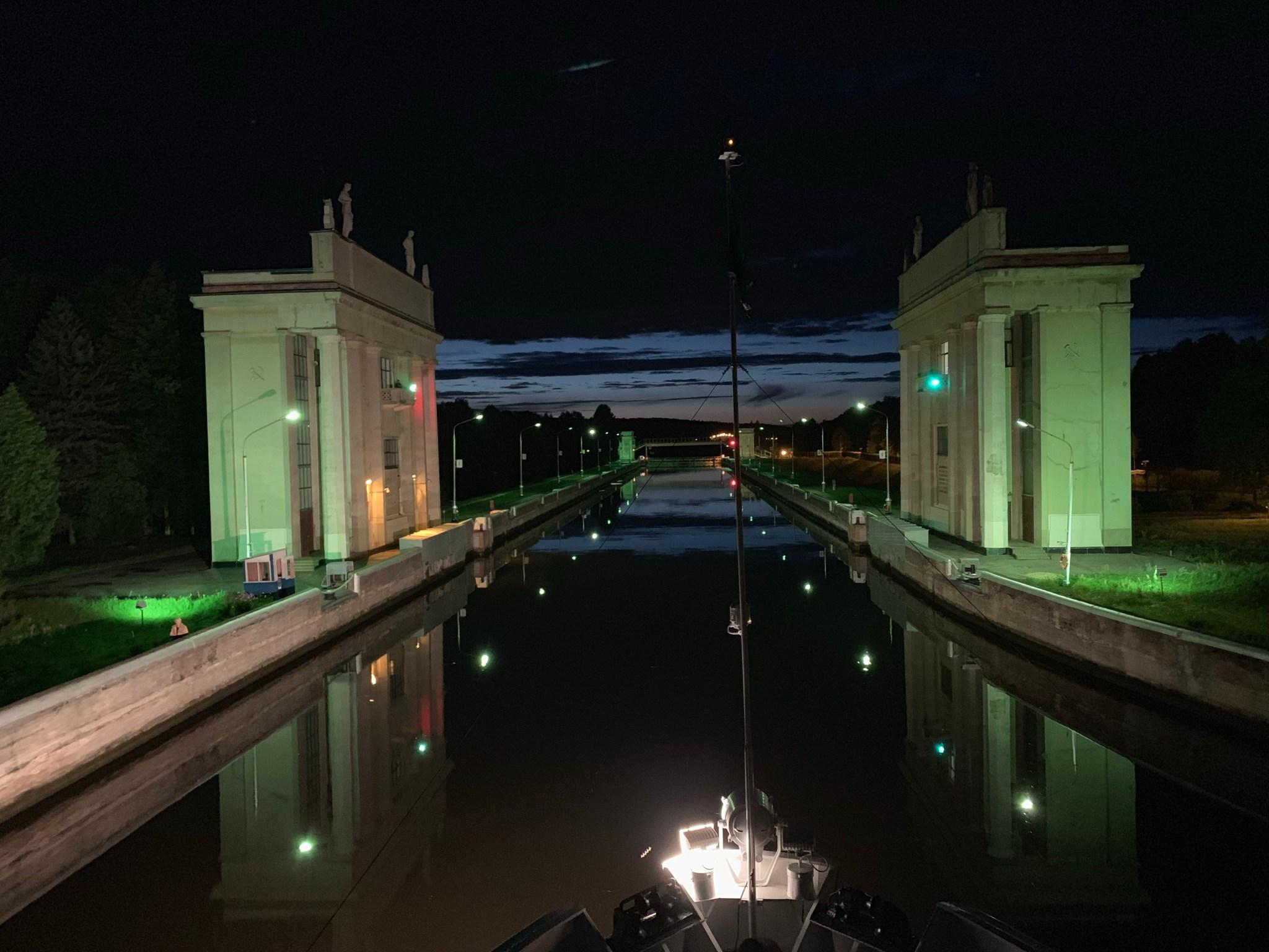 Lock on the Volga River Cruise