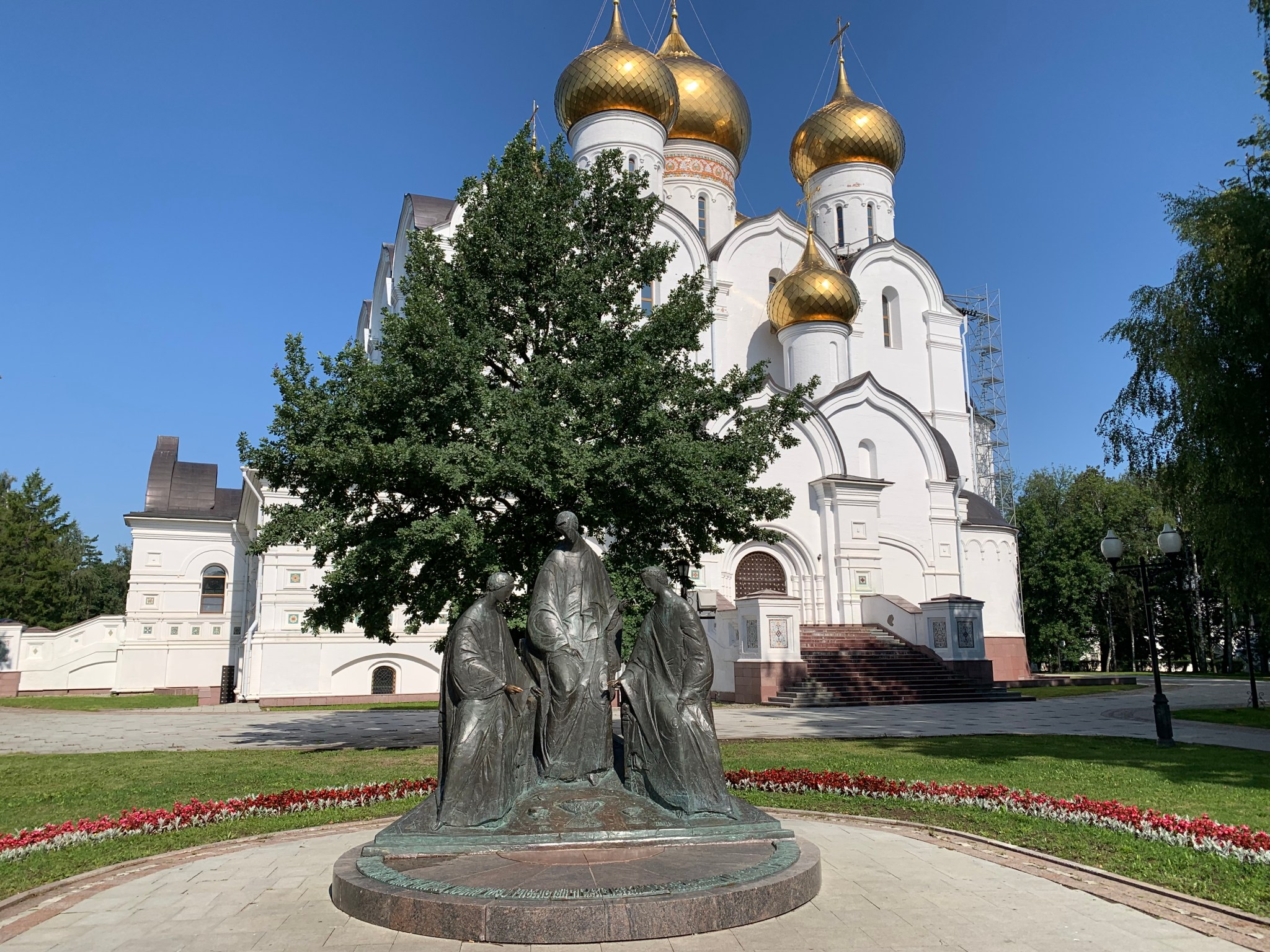 Trinity sculpture Yaroslavl Volga River