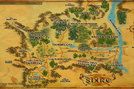 LOTRO Map Of The Shire
