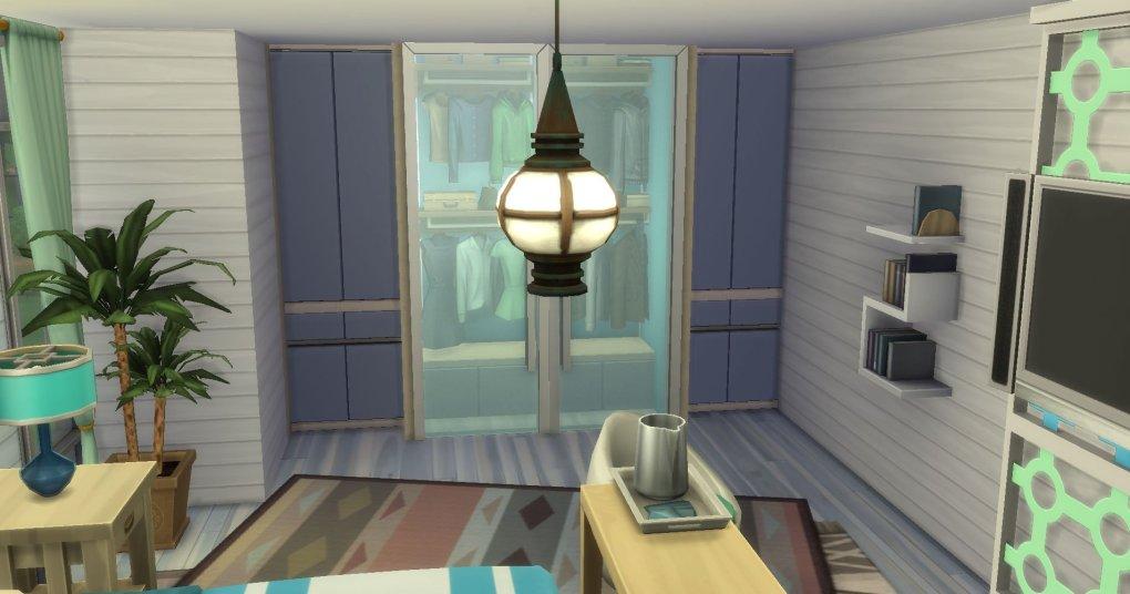 Sims 4 Seaside Themed Master Bedroom