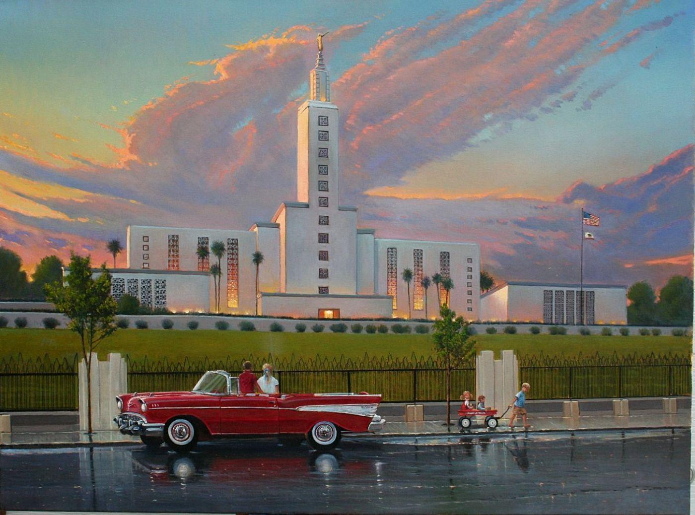 Los Angeles California Temple DLyon Art Historical LDS