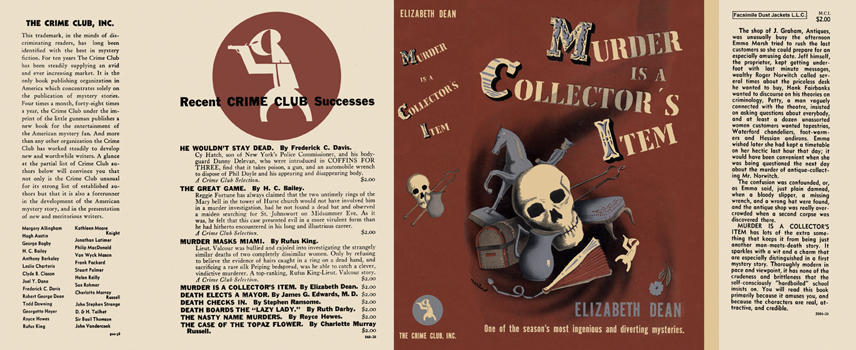 Image result for murder is a collector's item elizabeth dean