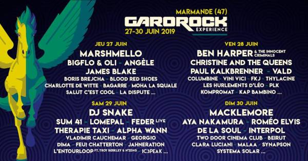 Garorock 2019 programmation