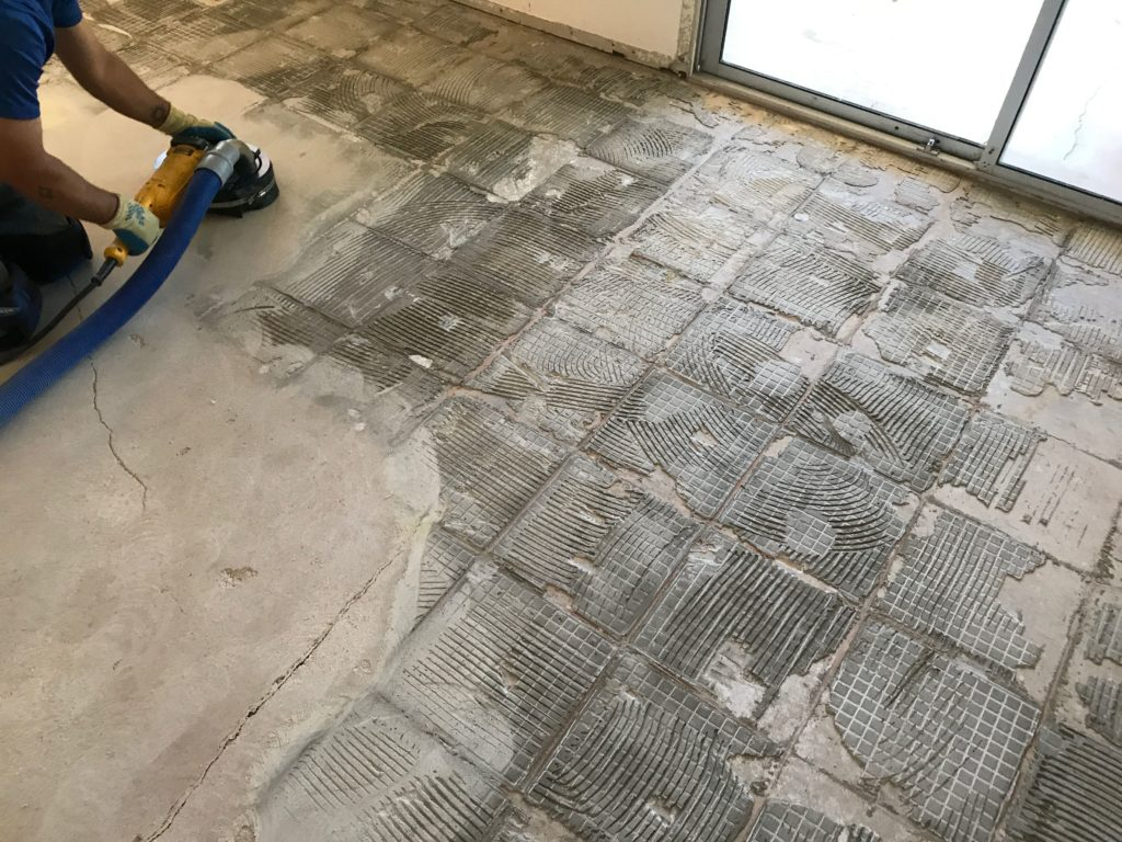 how much does dustram tile removal cost
