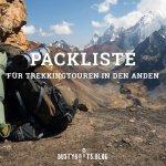Packliste für Mehrtagestouren in den Anden