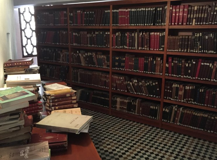Dünyanın en eski kütüphanesinde okuma odası görmek çok da şaşırtıcı olmasa gerek.